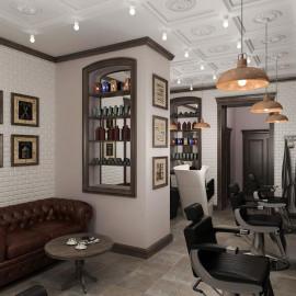 Дизайн салона красоты в стиле «Лофт»
