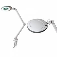 "Лампа-лупа ""LED"" (48 светодиодов 8 диоптрии) кронштейн серый ободок"
