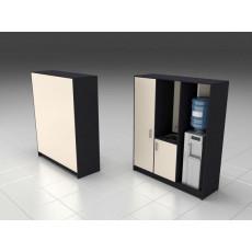 Шкаф 3 секции: гардероб, мойка, секция для кулера для Нейл-бара