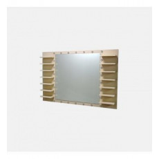 """Зеркало со стразами и полочками для лаков """"Agapito"""""""